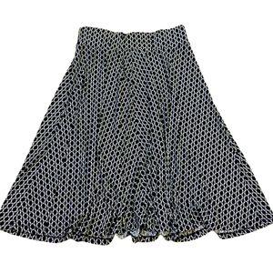 Jessica black & white midi skirt size 10 Medium